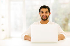 Man relaxing home Stock Image