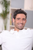 Man relaxing at home Royalty Free Stock Photo