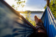 Free Man Relaxing In The Hammock. Royalty Free Stock Photo - 97581505