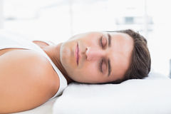 Man relaxing on massage table Royalty Free Stock Image