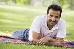Man relaxing in park Royalty Free Stock Photos