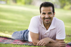 Man relaxing in park Royalty Free Stock Photography