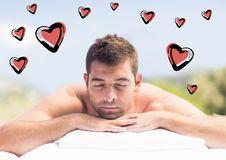 Man relaxing in spa Royalty Free Stock Photography