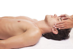 Man relaxing in spa Stock Photography