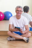 Man relaxing after workout Royalty Free Stock Images