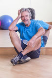 Man relaxing after workout Royalty Free Stock Photos