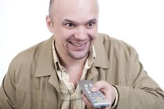 The man with a remote control Stock Image