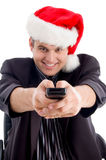 Man with remote control Stock Photos