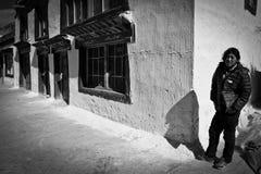 A man in a remote southern Tibetan Village Stock Image