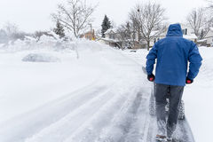 Man Removing Snow with a Snow Blower #2 Stock Image