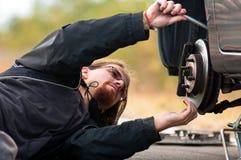 Man repairing car Royalty Free Stock Photo