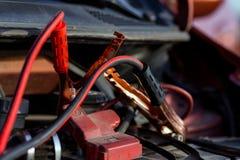 Man repairing motor block Royalty Free Stock Images