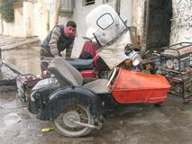 Old side Car in Erbil stock images