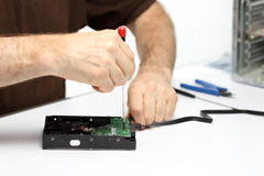 Man with repairing tools Stock Images