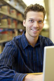 Man researching Stock Photography