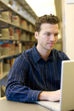 Man researching Stock Image