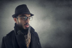 Man resembling a detective Stock Photography