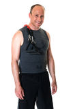 Man With Resistance Band Royalty Free Stock Image