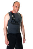 Man With Resistance Band Stock Image