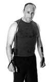 Man With Resistance Band Stock Images