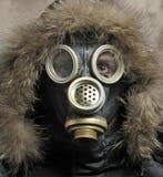 Man in respirator. Portrait of man in respirator Royalty Free Stock Photo