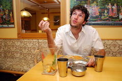 Man in restaurant royalty free stock images