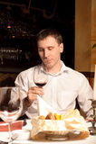Man at the restaurant Royalty Free Stock Image