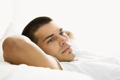 Man resting. Stock Photo