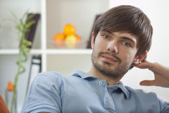 Man Resting At Home Royalty Free Stock Images