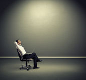 Man resting on the chair Royalty Free Stock Photos