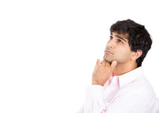 Man resting chin on hand Royalty Free Stock Images