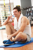 Man Resting After Exercise Stock Photography
