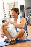 Man Resting After Exercise Royalty Free Stock Photos