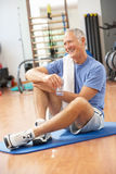 Man Resting After Exercises Stock Photography