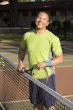 Man Resting After Playing Tennis Stock Photography