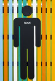 Man restroom sign Royalty Free Stock Photos