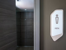 Man restroom and toilet sign Royalty Free Stock Images