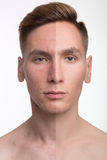 Man before and after retouch Royalty Free Stock Photo