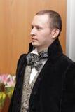 Man in retro garment Royalty Free Stock Image