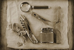 Man retro vintage accessory Royalty Free Stock Image
