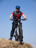 A man rides a Bicycle. Stock Photography
