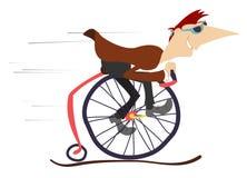 Man rides a comic bike Stock Photo
