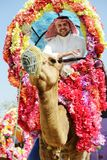 Man rides decorated camel Royalty Free Stock Images