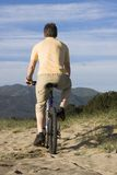 Man riding bicycle Royalty Free Stock Photo