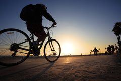 Man riding bicycle Royalty Free Stock Photography