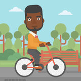 Man riding bicycle. Stock Photo