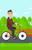 Man riding bicycle. Stock Photo