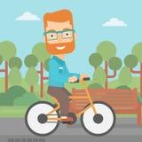 Man riding bicycle. Royalty Free Stock Photo