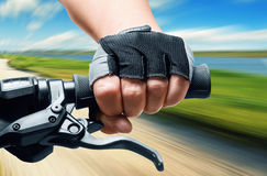 Man riding on a bicycle Royalty Free Stock Photography