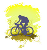 Man Riding Bicycle Silhouette Royalty Free Stock Image